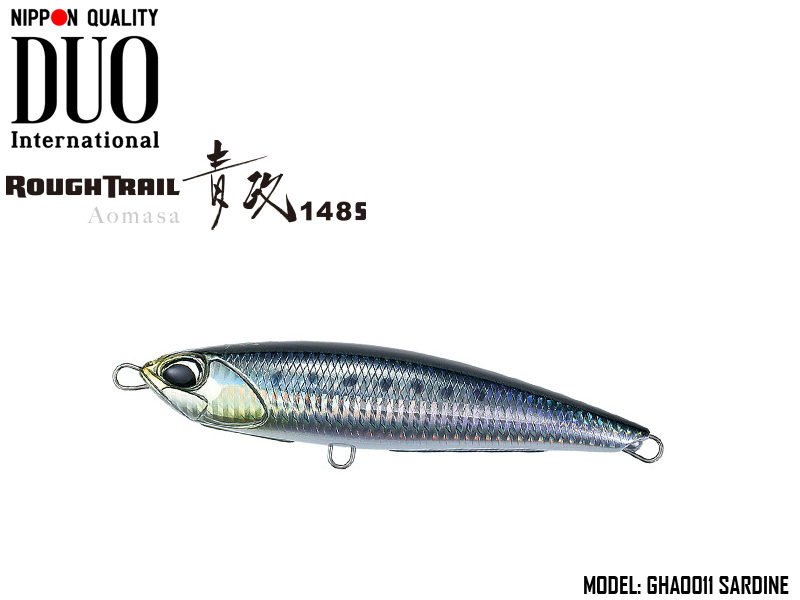 Duo Rough Trail Aomasa 148S (Length: 148mm, Weight: 67gr, Type: Sinking, Colour: GHA0011 Sardine)