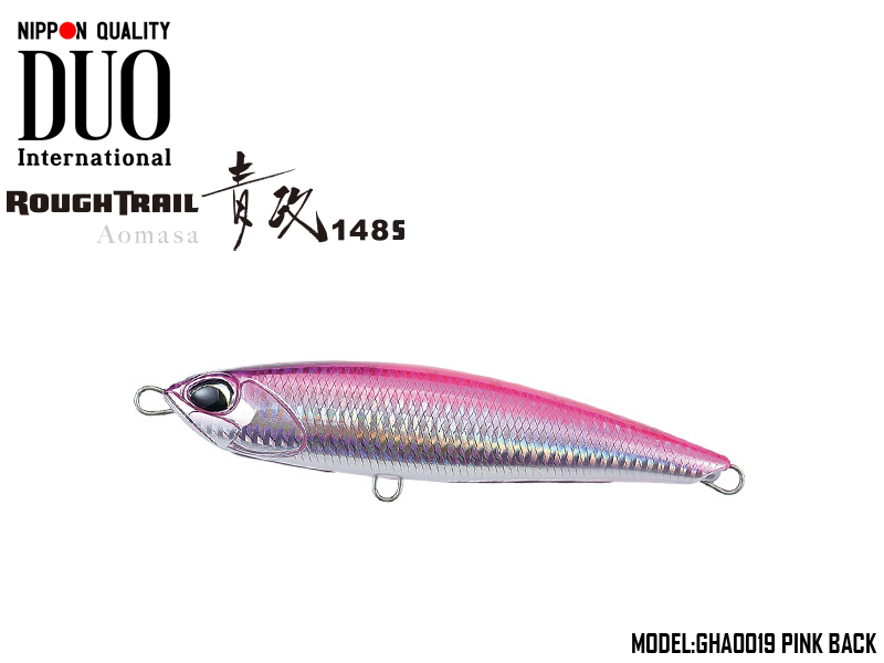 Duo Rough Trail Aomasa 148S (Length: 148mm, Weight: 67gr, Type: Sinking, Colour: GHA0019 Pink Back)
