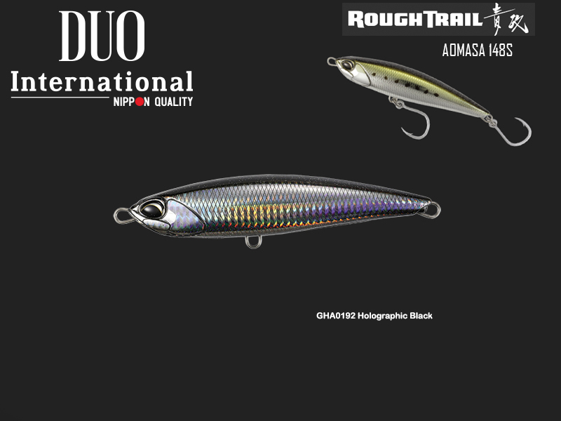 Duo Rough Trail Aomasa 148S (Length: 148mm, Weight: 67gr, Type: Sinking, Colour: GHA0192 Holographic Black)