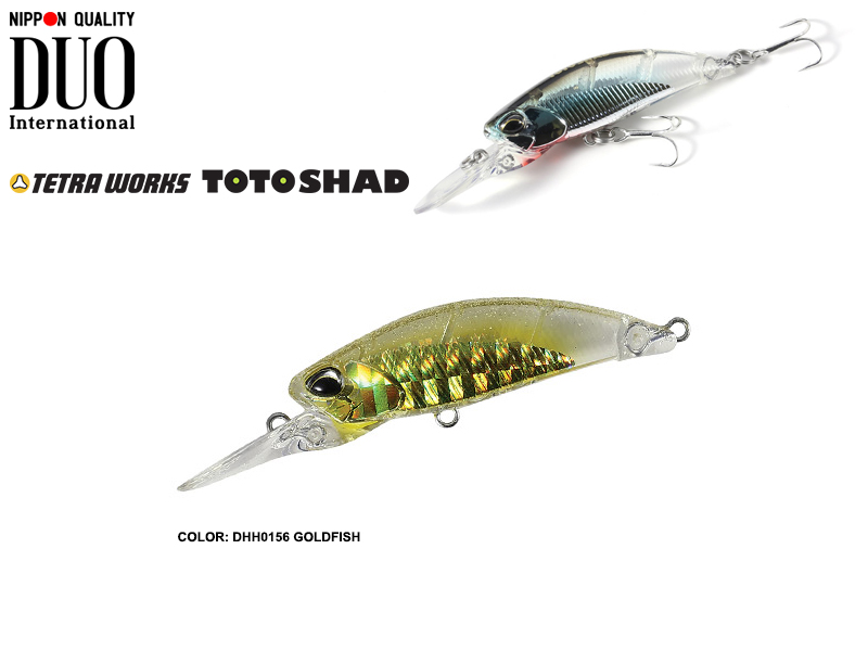 DUO Tetra Works Toto Shad (Length: 48mm, Weight: 4.5gr, Color: DHH0156 Goldfish)