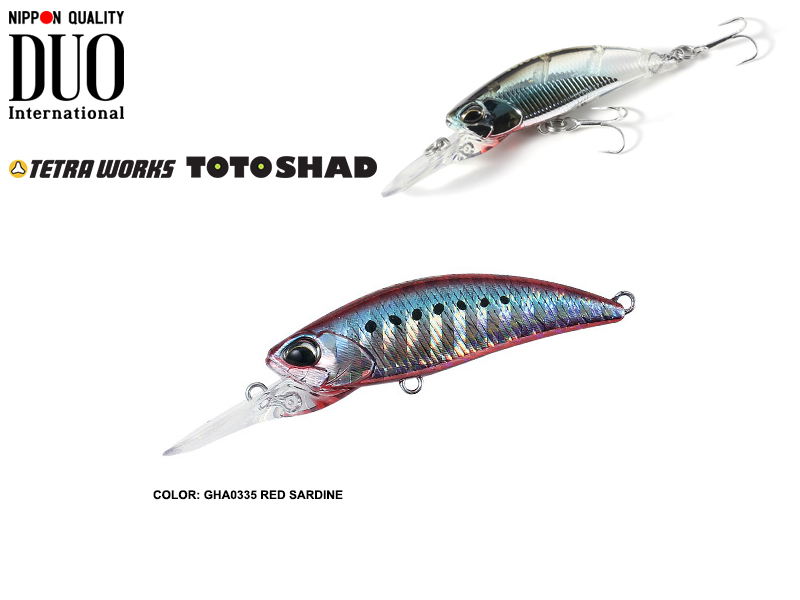 DUO Tetra Works Toto Shad (Length: 48mm, Weight: 4.5gr, Color: GHA0335 Red Sardine)