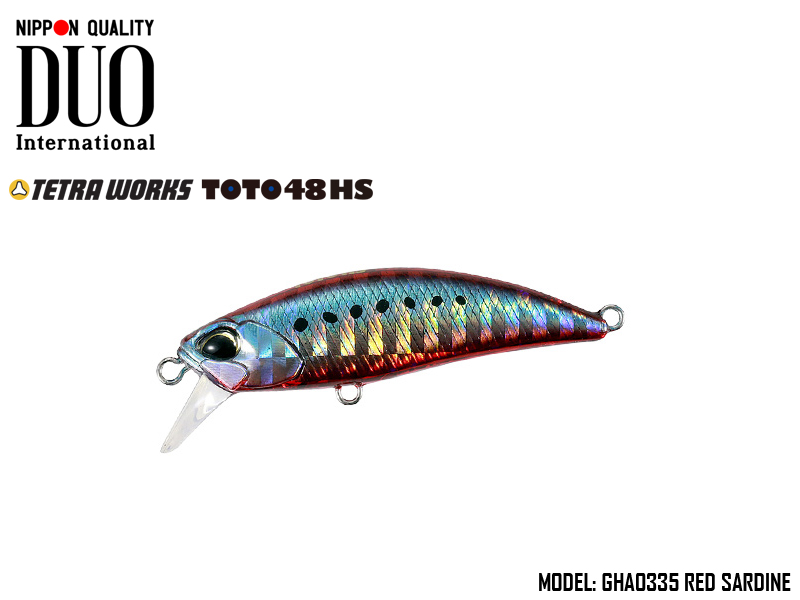 DUO Tetra Works ToTo 48HS (Length: 48mm, Weight: 4.3g, Color: GHA0335 Red Sardine)