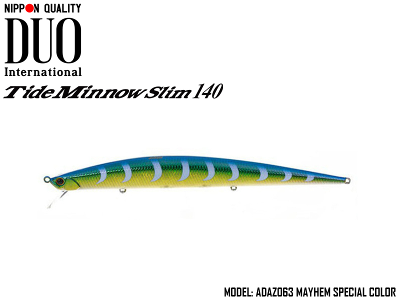 DUO Tide Minnow Slim 140 Lures (Length: 140mm, Weight: 18g, Model: ADAZ063 Mayhem Special Color)