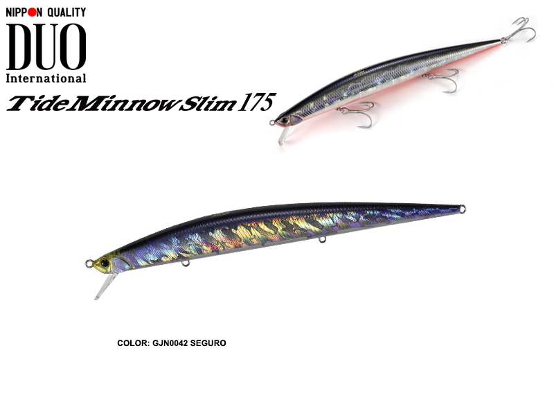 DUO Tide-Minnow Slim 175 Lures (Length: 175mm, Weight: 27g, Color: GJN0042 Seguro)