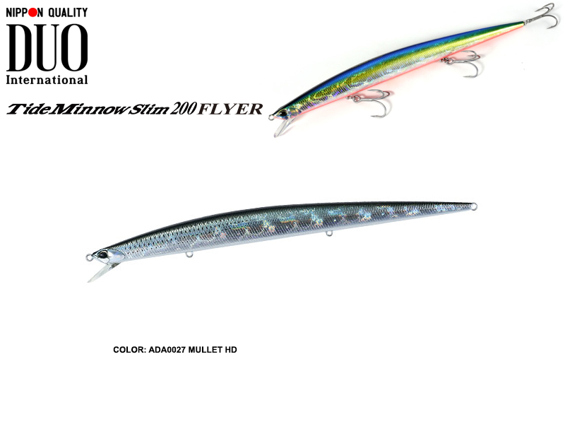DUO Tide Minnow Flyer 200 (Length: 200mm, Weight: 29.3gr, Color: ADA0027 Mullet HD)