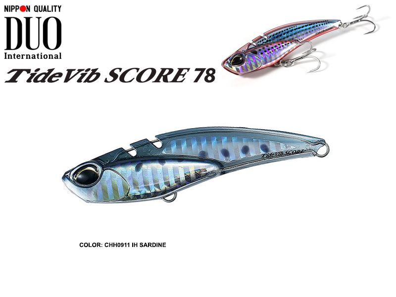 Duo Tide Vib Score 78 (Length: 78mm, Weight: 28gr, Color: CHH0911 IH Sardine)