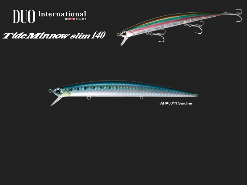 DUO Tide Minnow Slim 140 Lures (Length: 140mm, Weight: 18g, Model: AHA0011 Sardine)