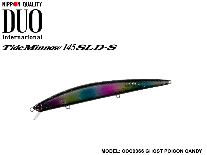 DUO Tide Minnow 145 SLD-S ( Length: 145cm, Weight: 22.5gr, Color: CCC0066 Ghost Poison Candy)