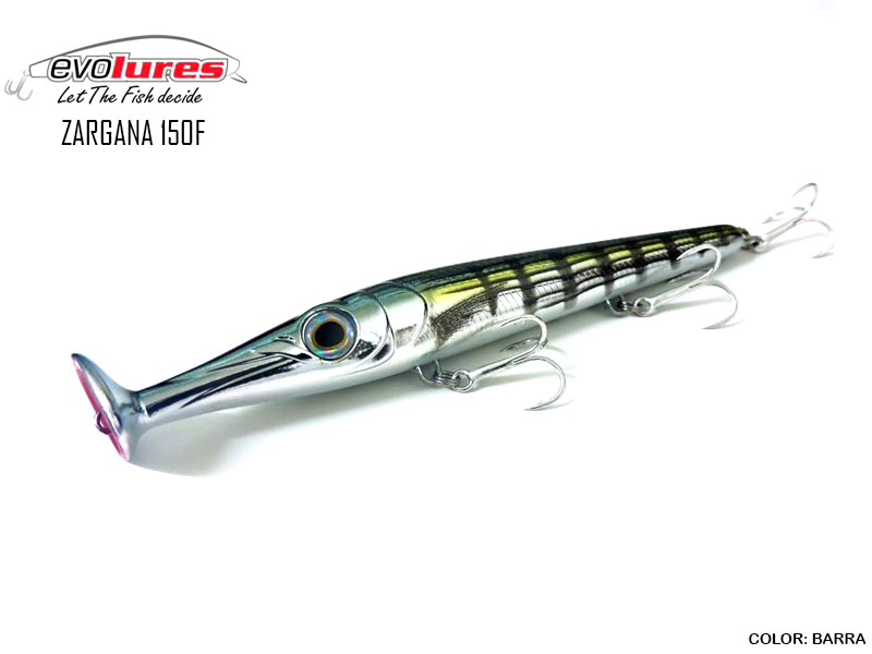 Evo Lures Zargana 150F (Length: 150mm, Weight: 21gr, Color: Barra)