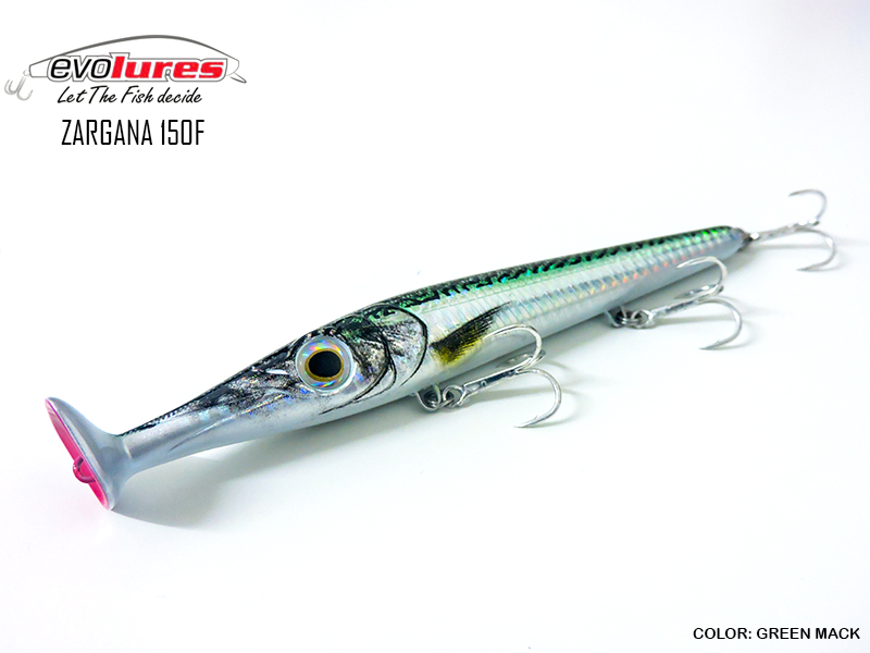 Evo Lures Zargana 150F (Length: 150mm, Weight: 21gr, Color: Green Mack)