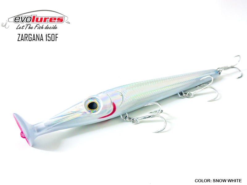 Evo Lures Zargana 150F (Length: 150mm, Weight: 21gr, Color: Snow White)