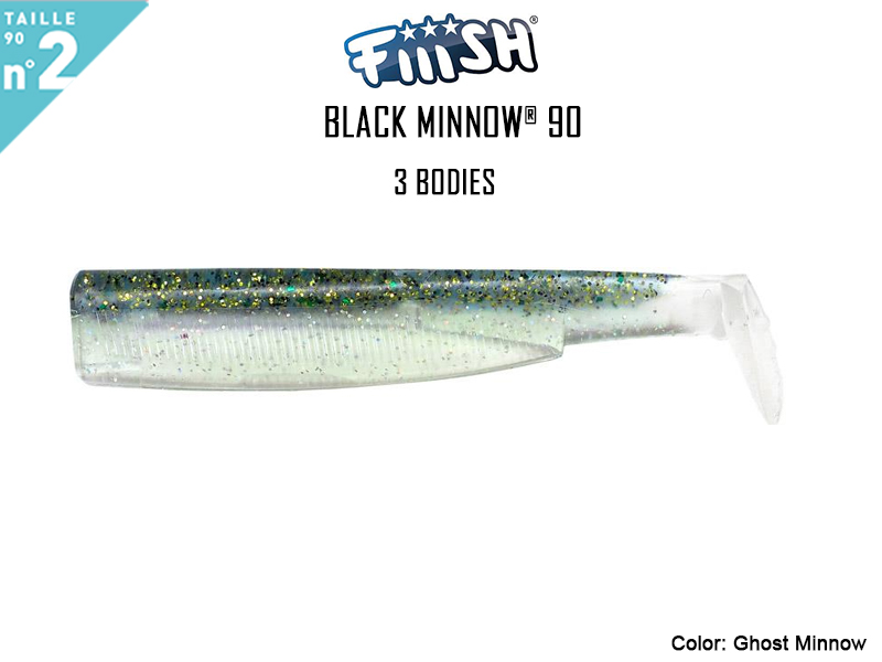 FIIISH Black Minnow 90 Bodies - 3 Bodies Pack ( Color: Ghost Minnow, Pack: 3pcs)
