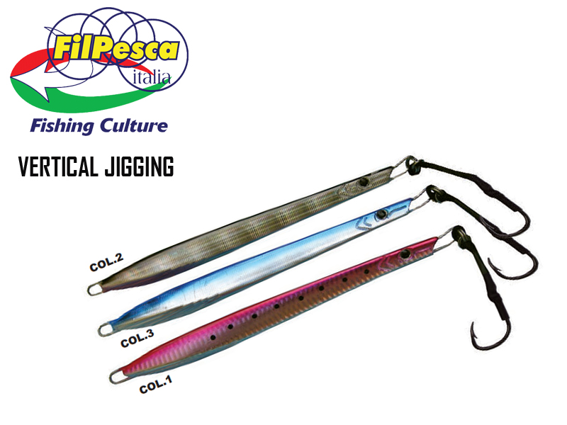 Filpesca Vertical Jigging Lures (Length: 20 cm, Weight: 200gr, Color: BLUE/03)