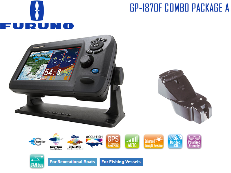 furuno gp-1870f combo package a: chart plotter & fishfinder combo, Fish Finder