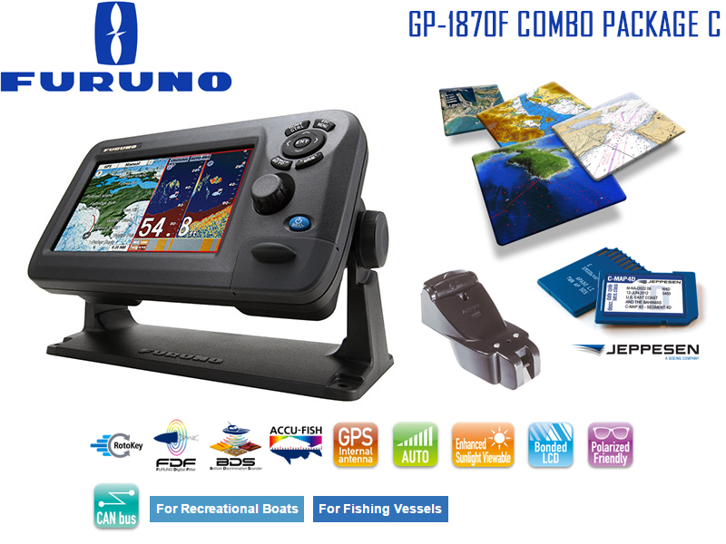 furuno gp-1870f combo package c: chart plotter & fishfinder combo, Fish Finder