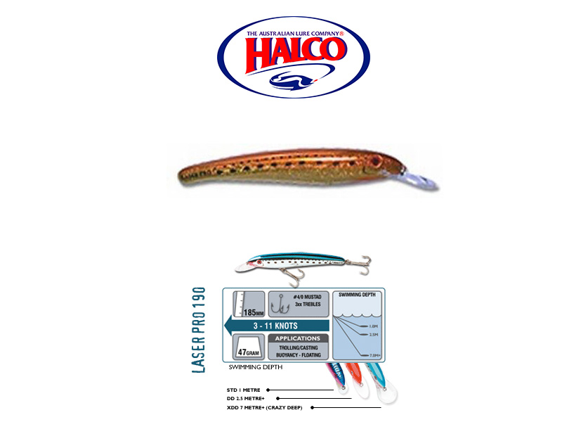 Halco Laser Pro 190 XDD (185mm, 47gr, Color:H70