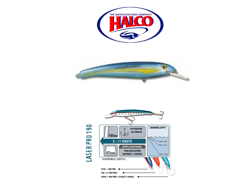 Halco Laser Pro 190 DD (185mm, 47gr, Color: H73)