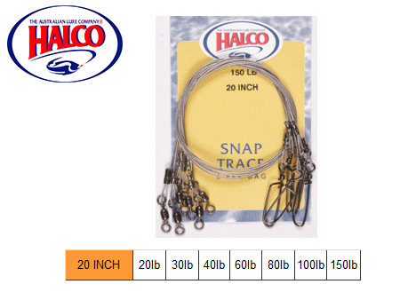 "Halco Snap Traces (20"", 40LB, 6pcs)"