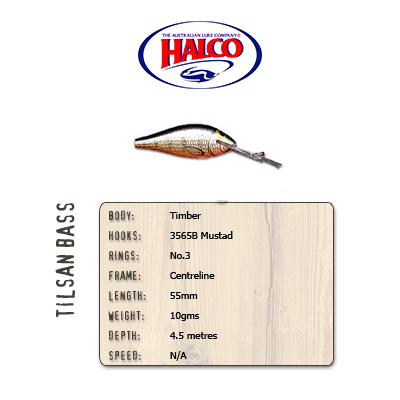 Halco Tilsan Bass (55mm, 10gr, Color: T120)