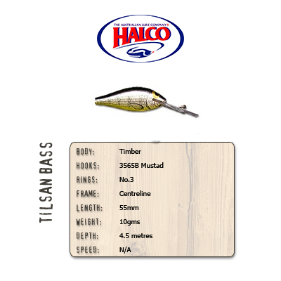 Halco Tilsan Bass (55mm, 10gr, Color: T121)