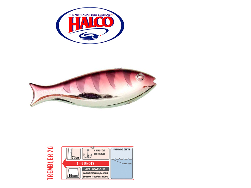 Halco Trembler 70 (70mm, 16gr, Color: R15)