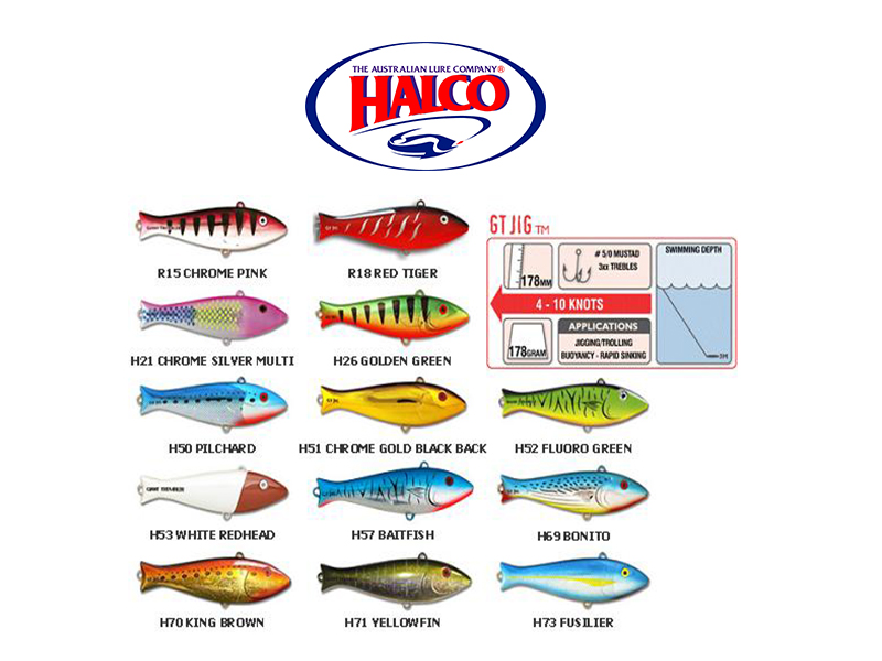 Halco Trembler GT JIG (178mm, 178gr, Color: H51)