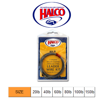 Halco Leader Wire Kit (10m, 80LB)