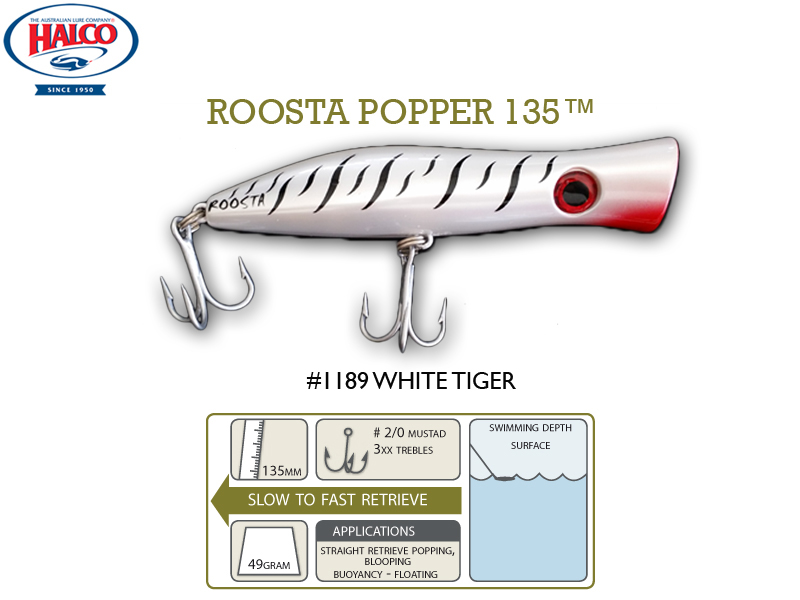 Halco Roosta Popper 135 (135mm, 49gr, Color: 1189)