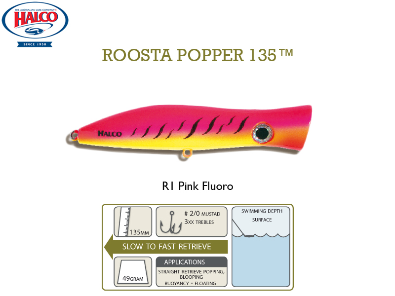 Halco Roosta Popper 135 (135mm, 49gr, Color: R1)
