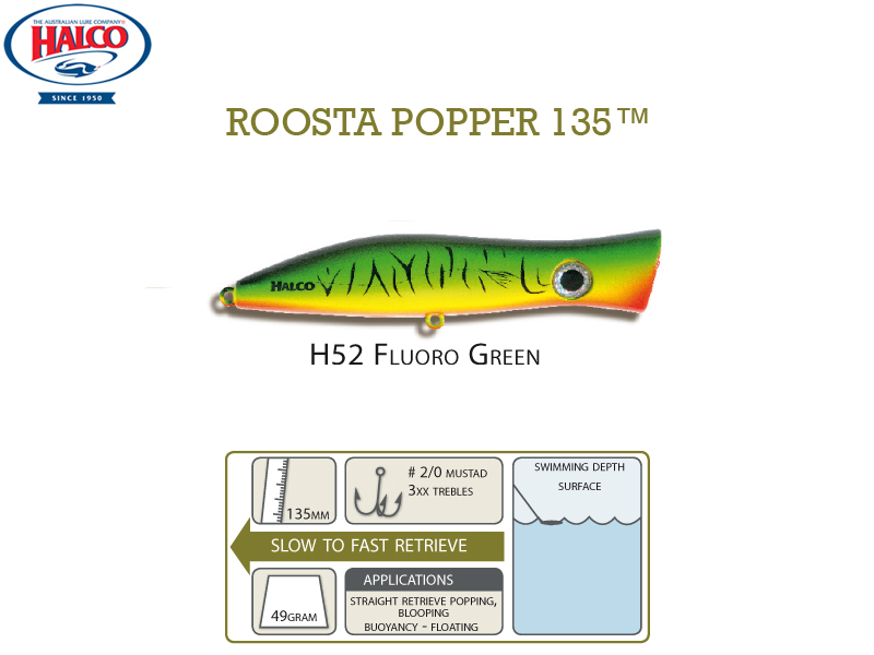 Halco Roosta Popper 135 (135mm, 49gr, Color: H52)
