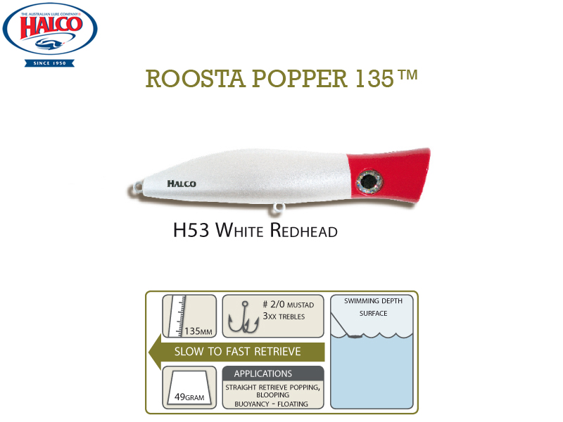 Halco Roosta Popper 135 (135mm, 49gr, Color: H53)