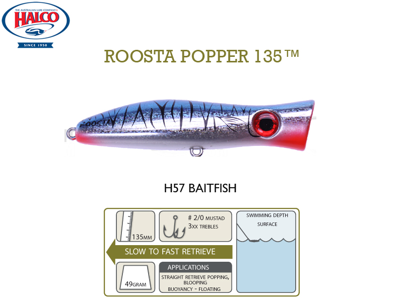 Halco Roosta Popper 135 (135mm, 49gr, Color: H57)