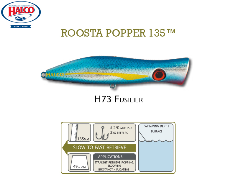 Halco Roosta Popper 135 (135mm, 49gr, Color: H73)