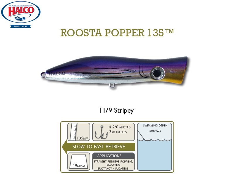 Halco Roosta Popper 135 (135mm, 49gr, Color: H79)