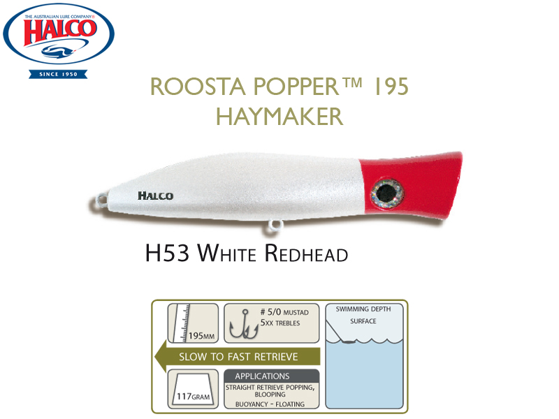 Halco Roosta Popper 195 (195mm, 110gr, Color: H53)