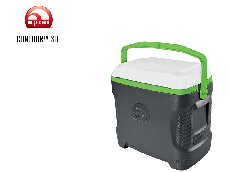 Igloo Cooler Contour (Quarts: 30, Color: Meteorite Nuclear Green White)