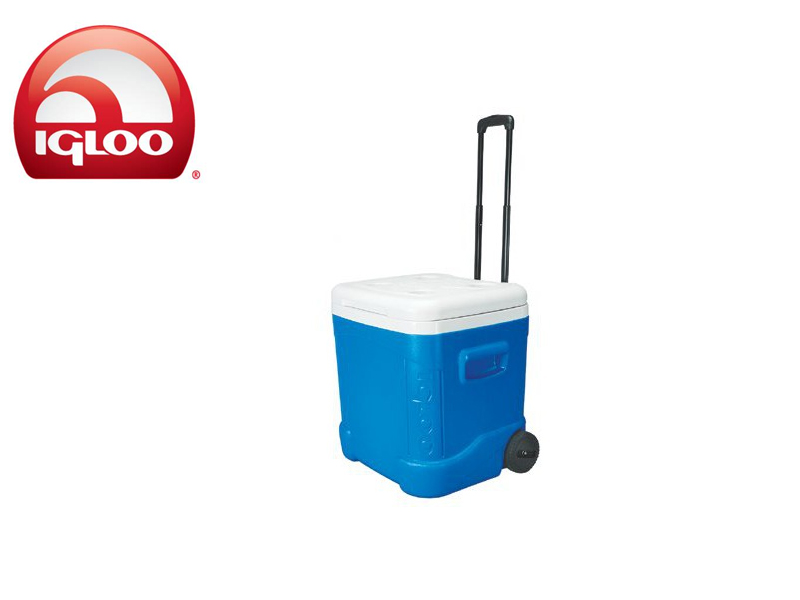 Igloo Cooler Ice Cube 60 Roller (Blue, 57 liters)