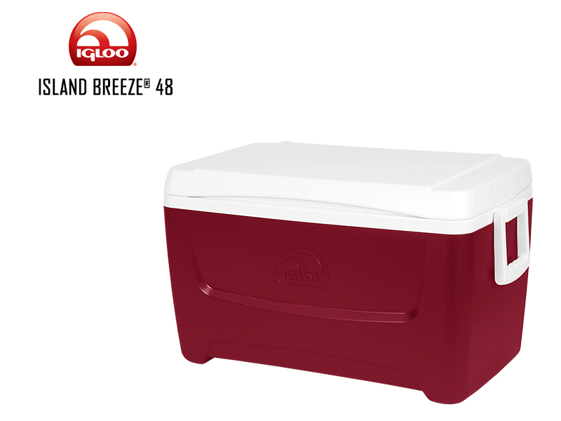 Igloo Cooler Island Breeze 48 (Red, 45 Liters)