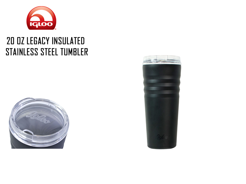 Igloo Legacy Insulated Stainless Steel Tumbler (Size: 20 oz, Color: Matte Black)