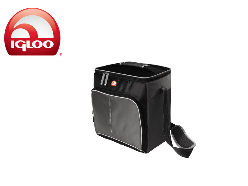 Igloo Cooler Vertical HLC 20 (Black/Grey, 20 Cans/15 Liters)