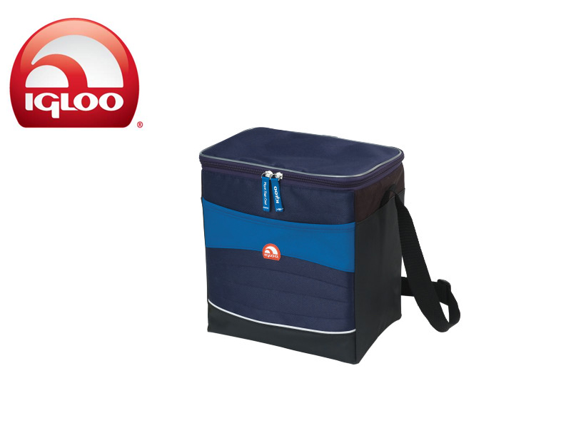Igloo Cooler Vertical Soft 20 (Blue/Navy, 20 Cans/15 Liters)