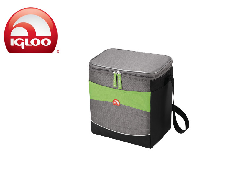 Igloo Cooler Vertical Soft 12 (Green/Grey, 12 Cans/8 Liters)