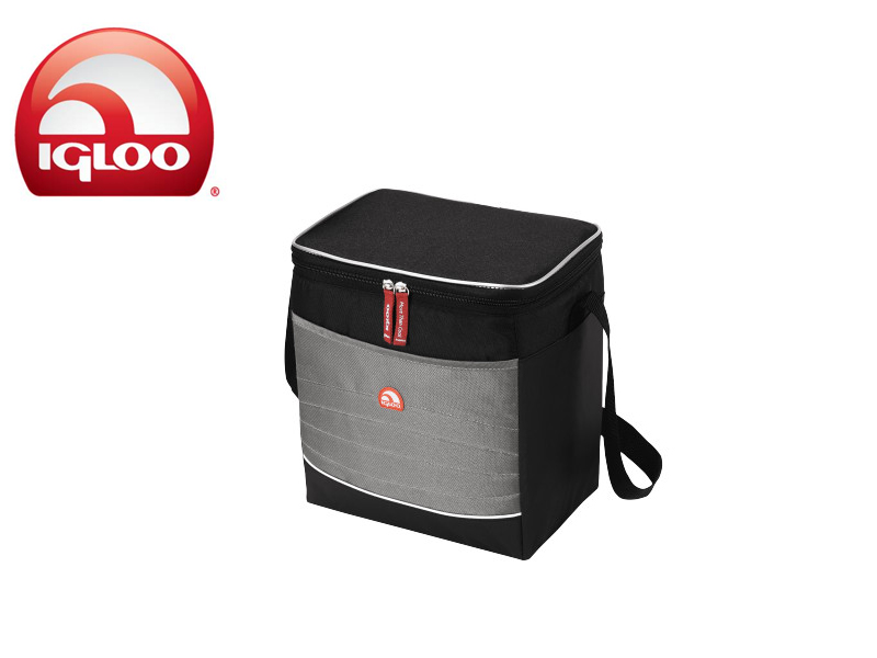 Igloo Cooler Vertical Soft 20 (Grey/Black, 20 Cans/15 Liters)