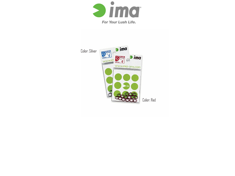 IMA Split Rings (Size: #2, Strength: 22LB, Color: Silver, Qty: 25pcs)