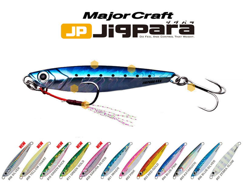 Major Craft Jigpara (Color:#30 Zebra Iwashi, Weight: 40gr)