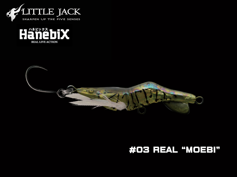 Little Jack Hanebix Custom (Length: 50mm, Weight: 11gr, Color: #03 Real Moebi)