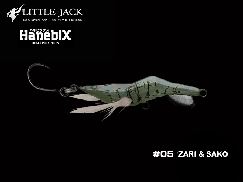 Little Jack Hanebix Custom (Length: 50mm, Weight: 11gr, Color: #05 Zari & Sako)