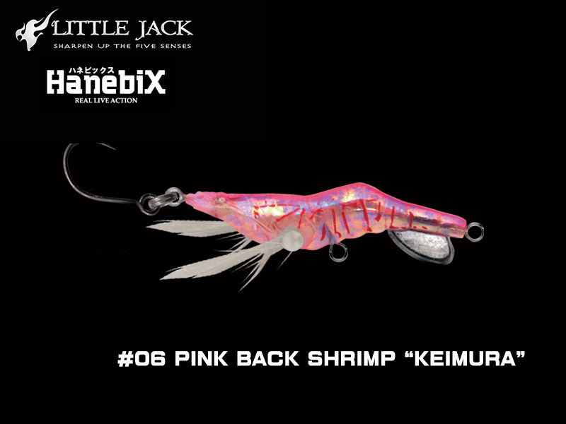 Little Jack Hanebix Custom (Length: 50mm, Weight: 11gr, Color: #06 Pink Back Shrimp Keimura)