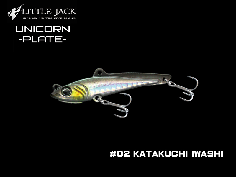Little Jack Unicorn Plate (Length: 75mm, Weight: 28gr, Color: #02 Katakuchi Iwashi)