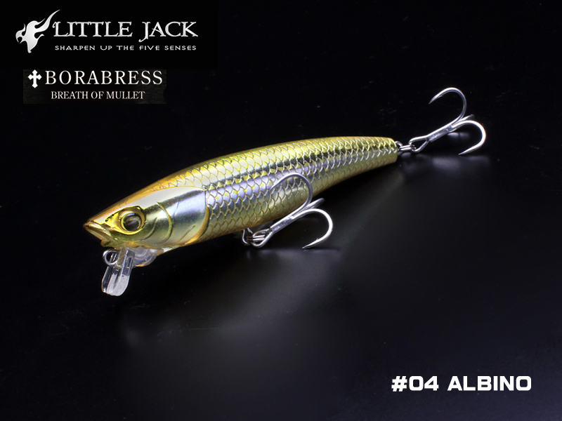 Little Jack Borabress (Length: 80mm, Weight: 8.3gr, Color: #04 Albino)